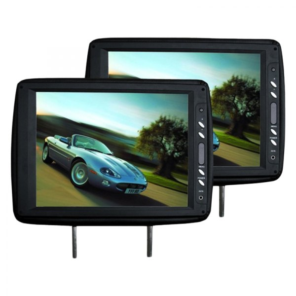 "Tview® - Black Headrest with 12"" TFT Monitor"
