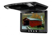"Tview® - 12"" Black Flip Down TFT Monitor with Built-In IR Transmitter"