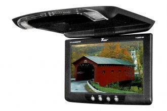 Tview® - 12 Black Flip Down TFT Monitor with Built-In IR Transmitter