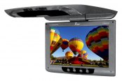 "Tview® - 12"" Gray Flip Down TFT Monitor with Built-In IR Transmitter"