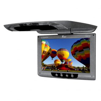 Tview® - 12 Gray Flip Down TFT Monitor with Built-In IR Transmitter