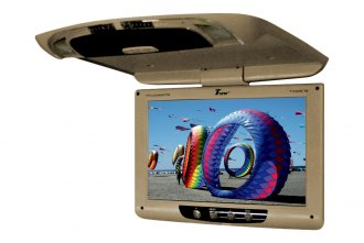 Tview® - 12 Tan Flip Down TFT Monitor with Built-In IR Transmitter