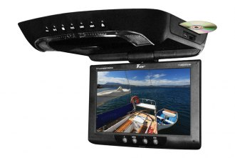 Tview® - 12 Black Flip Down TFT Monitor with Built-In DVD Player