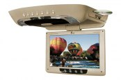 "Tview® - 12"" Tan Flip Down TFT Monitor with Built-In DVD Player"