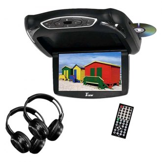 Tview® - 13.3 Flip Down TFT Monitor with Built-In DVD Player