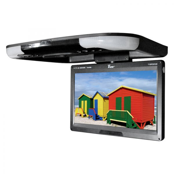 "Tview® - 13"" Black Flip Down TFT Monitor with Built-In IR Transmitter"