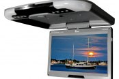 "Tview® - 13"" Gray Flip Down TFT Monitor with Built-In IR Transmitter"