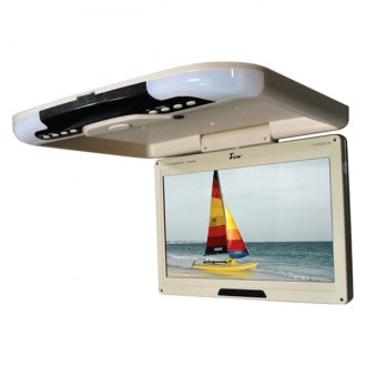 "Tview® - 13"" Tan Flip Down TFT Monitor with Built-In IR Transmitter"