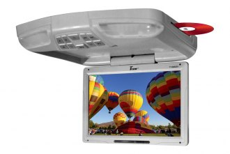 Tview® - 13 Gray Flip Down Monitor with Built-In DVD/USB/SD Player