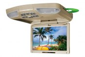 "Tview® - 13"" Tan Flip Down Monitor with Built-In DVD/USB/SD Player"