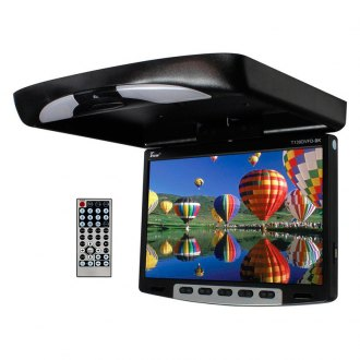"Tview® - 13"" Flip Down LCD Monitor with Built-In DVD Player"