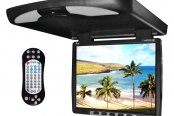 "Tview® - 14"" Black Flip Down TFT Monitor with Built-In DVD/IR/FM Player"