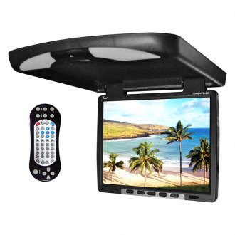 Tview® - 14 Black Flip Down TFT Monitor with Built-In DVD/IR/FM Player