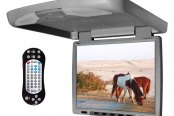 "Tview® - 14"" Gray Flip Down TFT Monitor with Built-In DVD/IR/FM Player"