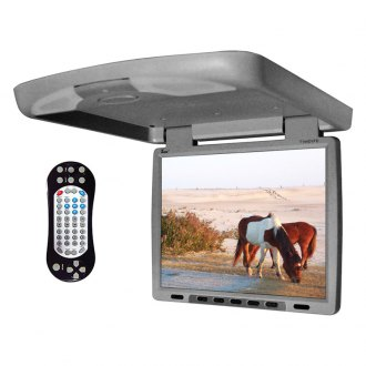 Tview® - 14 Gray Flip Down TFT Monitor with Built-In DVD/IR/FM Player