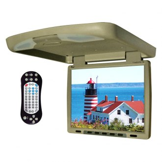 Tview® - 14 Tan Flip Down TFT Monitor with Built-In DVD/IR/FM Player