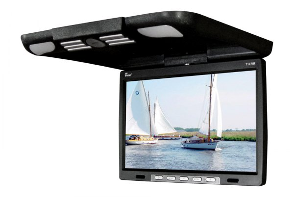 "Tview® - 14.1"" Black Flip Down LCD Monitor"