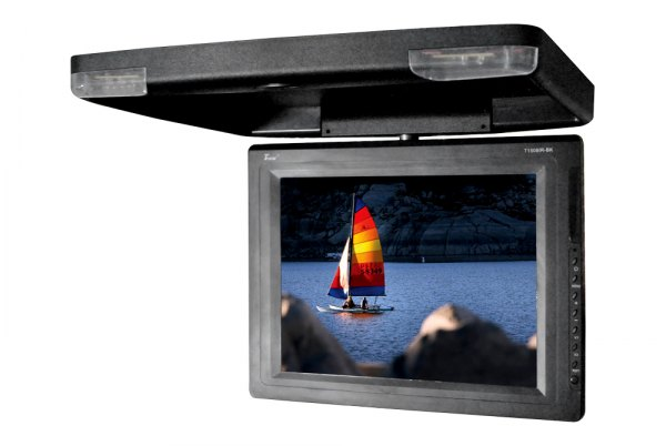 "Tview® - 15"" Black Flip Down TFT Monitor with Built-In IR Transmitter"