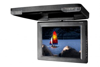 Tview® - 15 Black Flip Down TFT Monitor with Built-In IR Transmitter