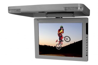 Tview® - 15 Gray Flip Down TFT Monitor with Built-In IR Transmitter