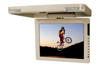 Tview® - 15 Tan Flip Down TFT Monitor with Built-In IR Transmitter