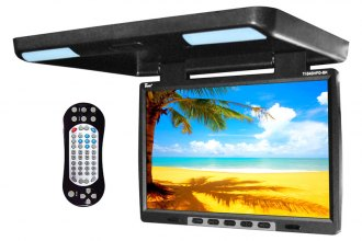 "Tview® - 15.4"" Flip Down TFT Monitor with Built-In DVD IR/FM Transmitter"