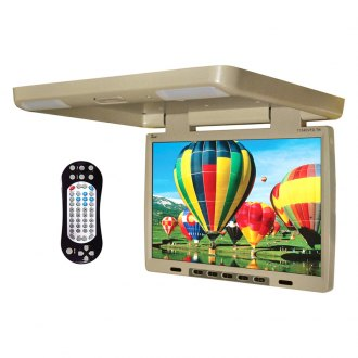 Tview® - 15.4 Tan Flip Down TFT Monitor with Built-In DVD IR/FM Transmitter