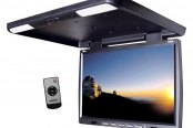 "Tview® - 15.4"" Black Flip Down TFT Monitor with Built-In IR Transmitter"