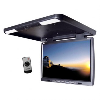 Tview® - 15.4 Black Flip Down TFT Monitor with Built-In IR Transmitter