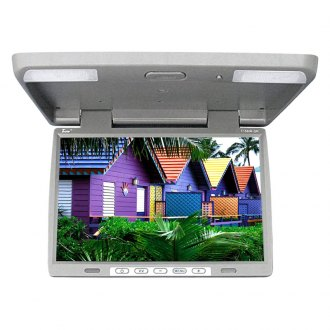 Tview® - 15.4 Gray Flip Down TFT Monitor with Built-In IR Transmitter