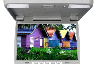 "Tview® - 15.4"" Gray Flip Down TFT Monitor with Built-In IR Transmitter"