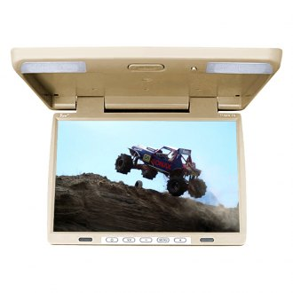 Tview® - 15.4 Tan Flip Down TFT Monitor with Built-In IR Transmitter