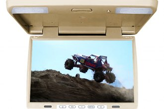 "Tview® - 15.4"" Tan Flip Down TFT Monitor with Built-In IR Transmitter"