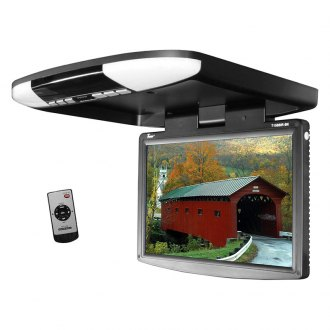 "Tview® - 15.4"" Black Flip Down LED Monitor with Built-In IR Transmitter"
