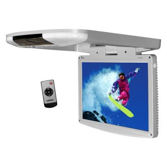 "Tview® - 15.4"" Gray Flip Down LED Monitor with Built-In IR Transmitter"