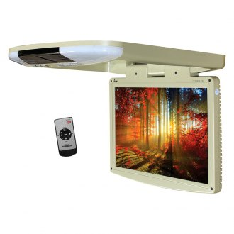 "Tview® - 15.4"" Tan Flip Down LED Monitor with Built-In IR Transmitter"