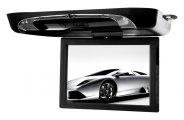 "Tview® - 15"" Flip Down Monitor with Built-In DVD/USB/SD/IR/FM Player"
