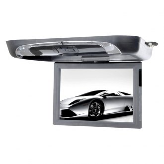 Tview® - 15 Gray Flip Down Monitor with Built-In DVD/USB/SD/IR/FM Player