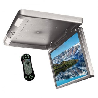 "Tview® - 17.3"" Gray Flip Down TFT Monitor with Built-In DVD IR/FM Transmitter"