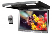 "Tview® - 17"" Black Flip Down TFT Monitor with Built-In IR Transmitter"