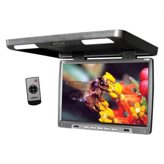 Tview® - 17 Black Flip Down TFT Monitor with Built-In IR Transmitter