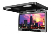 "Tview® - 17"" Black Flip Down Monitor with Built-In DVD Player"