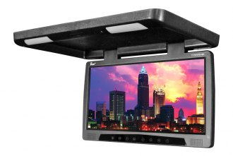Tview® - 17 Black Flip Down Monitor with Built-In DVD Player