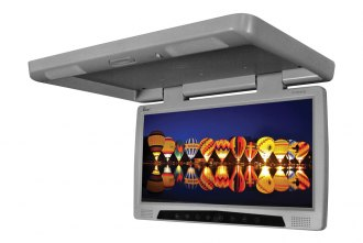 Tview® - 17 Gray Flip Down Monitor with Built-In DVD Player