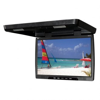 "Tview® - 20"" Black Flip Down TFT Monitor with Built-In IR Transmitter"