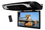 "Tview® - 20"" Black Flip Down Monitor with Built-In DVD Player"