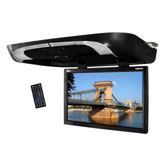 Tview® - 20 Black Flip Down Monitor with Built-In DVD Player
