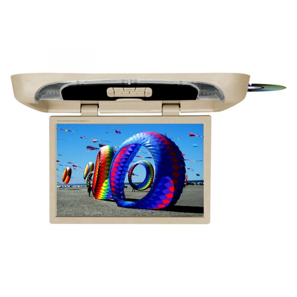 "Tview® - 20"" Tan Flip Down Monitor with Built-In DVD Player"
