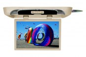 "Tview® - 20"" Tan Flip Down TFT Monitor with Built-In DVD Player"