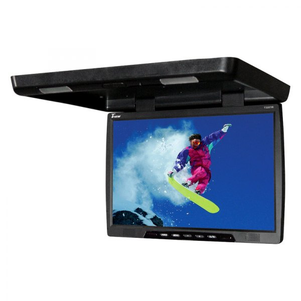 "Tview® - 22"" Black Flip Down TFT Monitor"